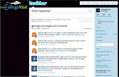 100 Schools on SmartCollegeVisit's Twitter List