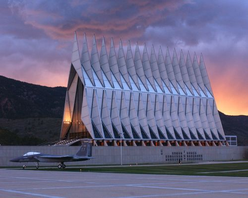 Smart See, Smart Do: The United States Air Force Academy - Chapel at Sunset