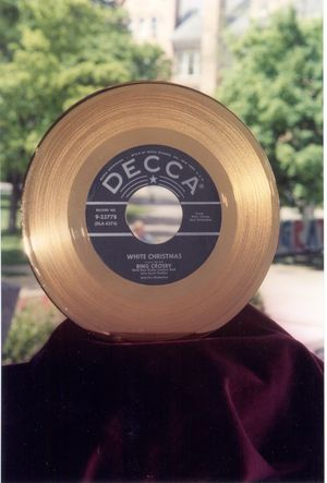 Bing Crosby gold record