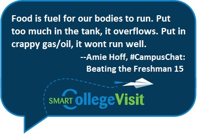 Takeaway Tweets & Transcript: Beating the Freshman 15 #CampusChat