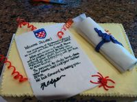 University of Richmond Applicant's Graduation Cake Takes the Cake!